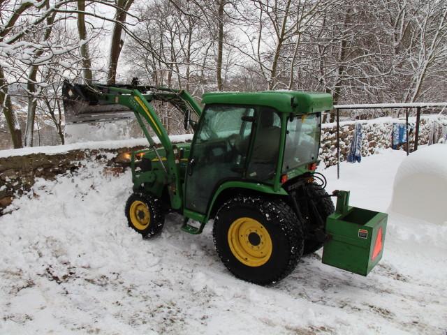 úklid sněhu...
